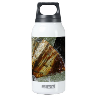 COLORFUL BOULDERS IN RAGING WATERS INSULATED WATER BOTTLE