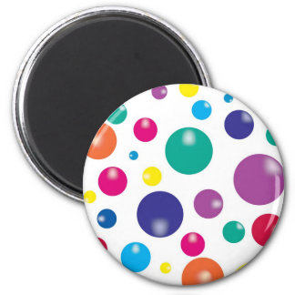 Colorful Bouncing Gumballs 2 Inch Round Magnet