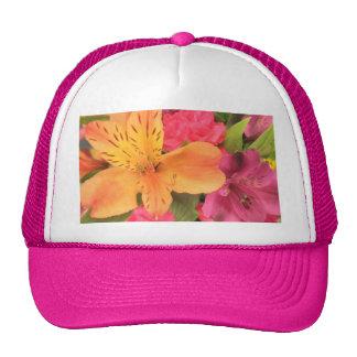 Colorful Bouquet Flowers Floral Print Trucker Hat