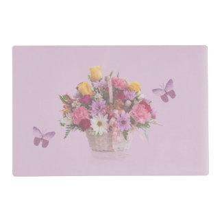 Colorful Bouquet in a Basket, Butterflies Placemat