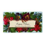 Colorful Bouquet Vintage Floral Label Shipping Label