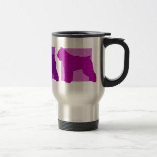 Colorful Bouvier des Flandres Silhouettes Travel Mug