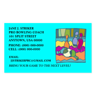 COLORFUL BOWLING ABSTRACT BUSINESS CONTACT CARDS! Double-Sided STANDARD BUSINESS CARDS (Pack OF 100)