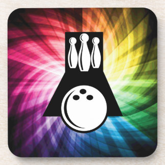 Colorful Bowling Beverage Coaster