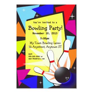 Colorful Bowling Invitation