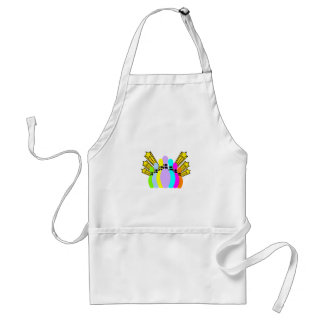 Colorful Bowling Pins Adult Apron