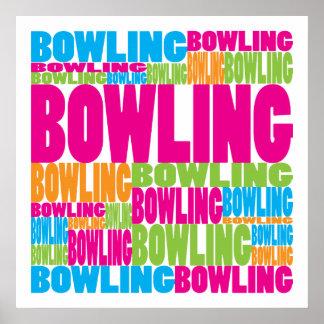 Colorful Bowling Print