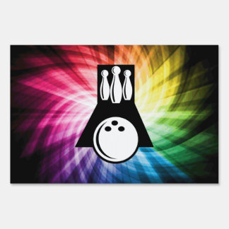 Colorful Bowling Yard Sign