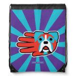Hand shaped Colorful Boxer Drawstring Bag