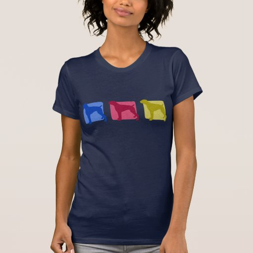 Colorful Boxer Silhouettes Ladies T-Shirt