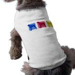Colorful Boxer Silhouettes Pet T Shirt