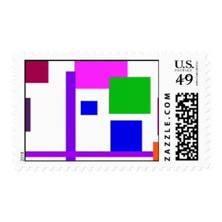 Colorful Boxes Stamp