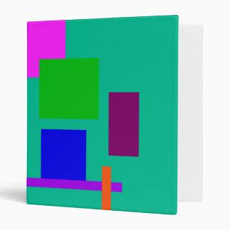 Colorful Boxes Vinyl Binder