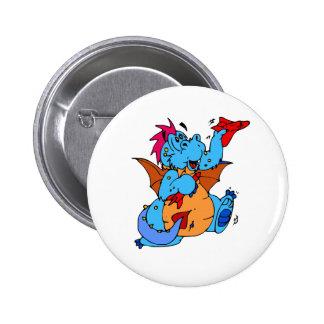 Colorful Boy Dragon Pinback Button