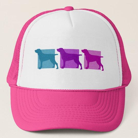 Colorful Bracco Italiano Silhouettes Trucker Hat