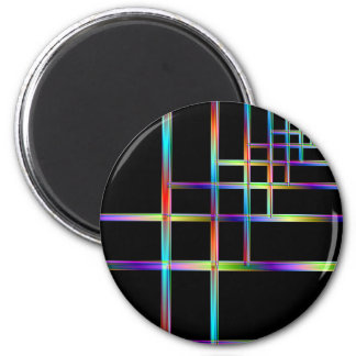 Colorful Brackets 2 Inch Round Magnet