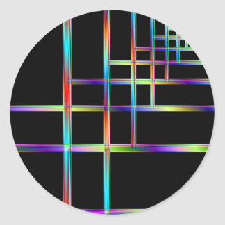 Colorful Brackets Classic Round Sticker