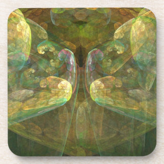 Colorful Brain Matter Abstract Beverage Coaster