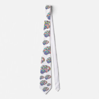 Colorful Brains Tie
