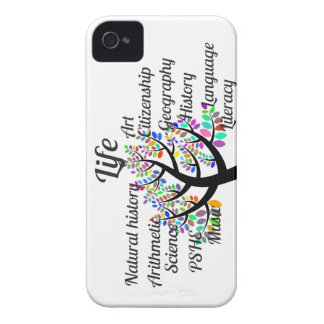 Colorful Branches of Life and Education iPhone 4 Case