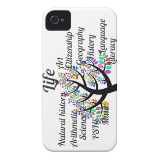 Colorful Branches of Life and Education iPhone 4 Case-Mate Case