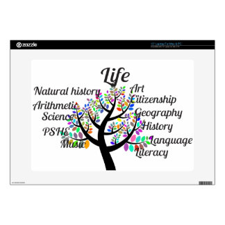 Colorful Branches of Life and Education Skin For Laptop
