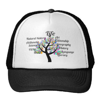 Colorful Branches of Life and Education Trucker Hat