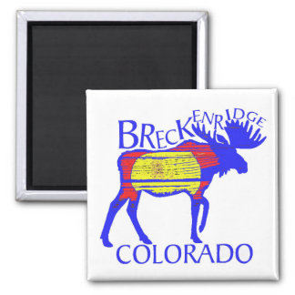 Colorful Breckenridge Colorado moose magnet