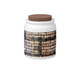 colorful brick candy jars