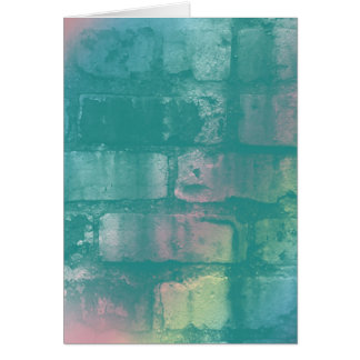 Colorful Brick Note Card