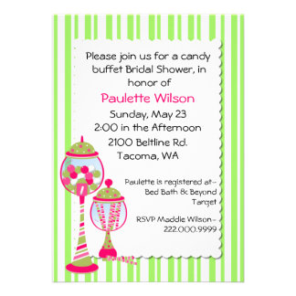 Colorful Bridal Shower Candy Buffet Invitation