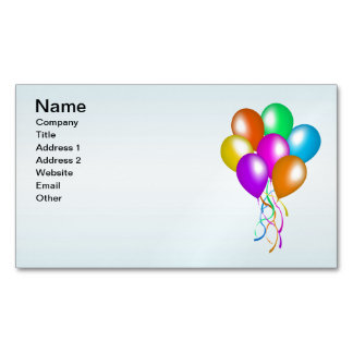 Colorful Bright Bunch of Balloons Business Card Magnet