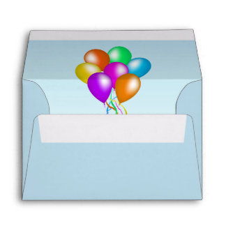 Colorful Bright Bunch of Balloons Envelope