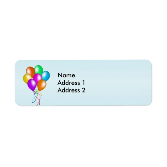 Colorful Bright Bunch of Balloons Label