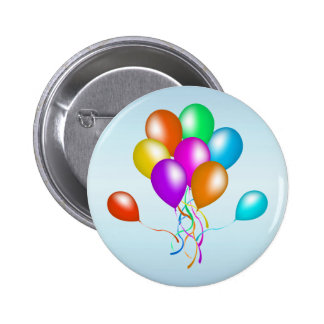 Colorful Bright Bunch of Balloons Pinback Button