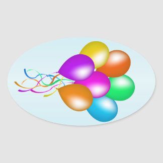 Colorful Bright Bunch of Balloons Stickers