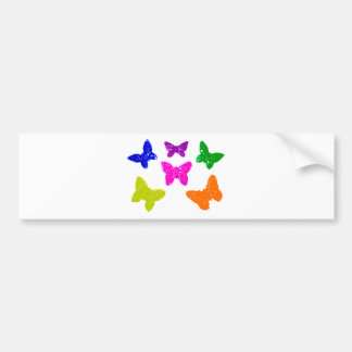 Colorful Bright Butterflies Bumper Sticker