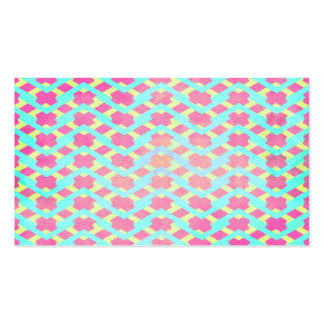 Colorful Bright Chevron Zig Zag Vintage Hot Pink Business Card