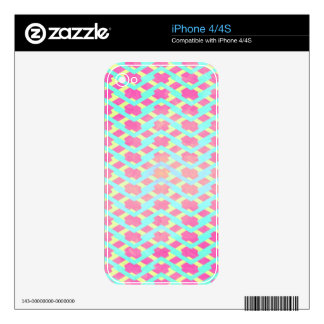 Colorful Bright Chevron Zig Zag Vintage Hot Pink iPhone 4S Decal