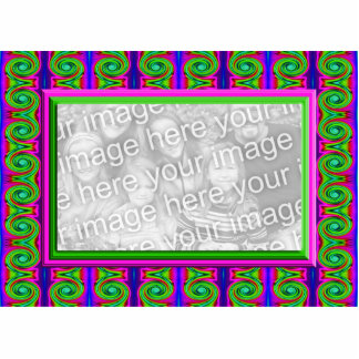 colorful bright curls photo frame cut outs
