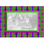 colorful bright curls photo frame standing photo sculpture