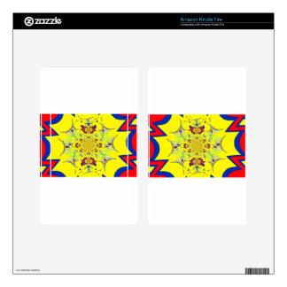 Colorful Bright floral damask design Skin For Kindle Fire
