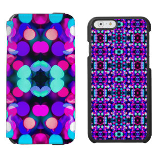 Colorful Bright Multicolor Bokeh Christmas Lights iPhone 6/6s Wallet Case