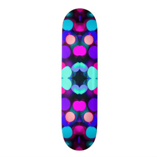 Colorful Bright Multicolor Bokeh Christmas Lights Skateboard Deck