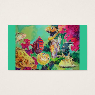 Colorful Bright Ocean Fish Business Cards