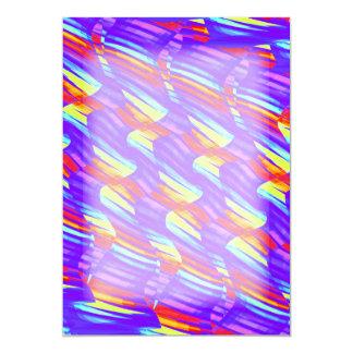 Colorful Bright Purple Wave Twists Artwork Card