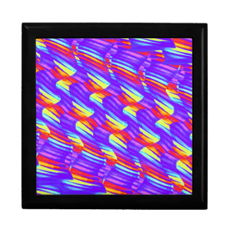Colorful Bright Purple Wave Twists Artwork Gift Boxes