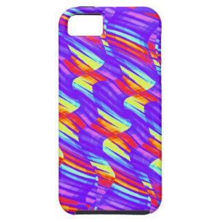 Colorful Bright Purple Wave Twists Artwork iPhone SE/5/5s Case