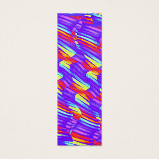 Colorful Bright Purple Wave Twists Artwork Mini Business Card
