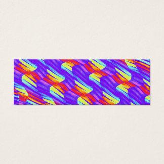 Colorful Bright Purple Wave Twists Artwork Mini Business Card